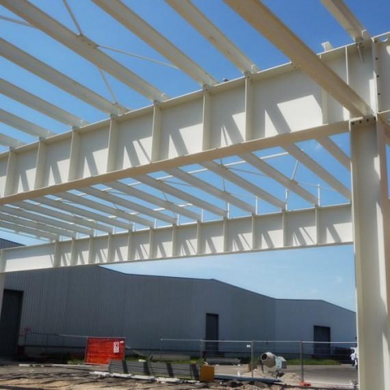 Nuova tettoia stoccaggio