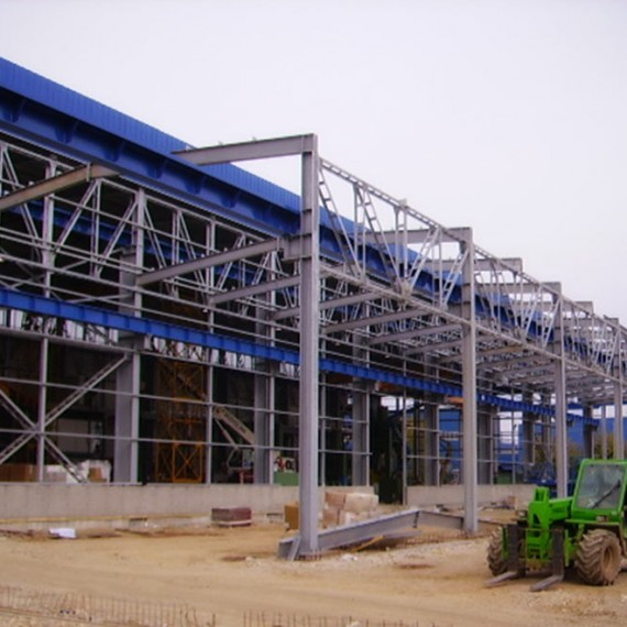 Widening of  an industrial building