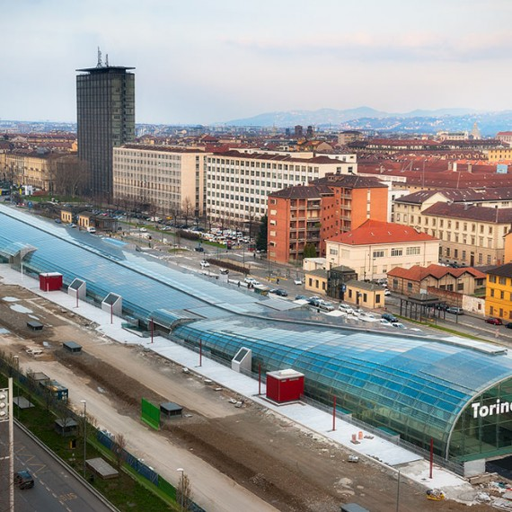 High speed railway station Turin Porta Susa