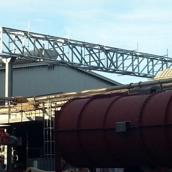 Carpenteria per rack e strutture accessorie per l'impianto Plaxil 1