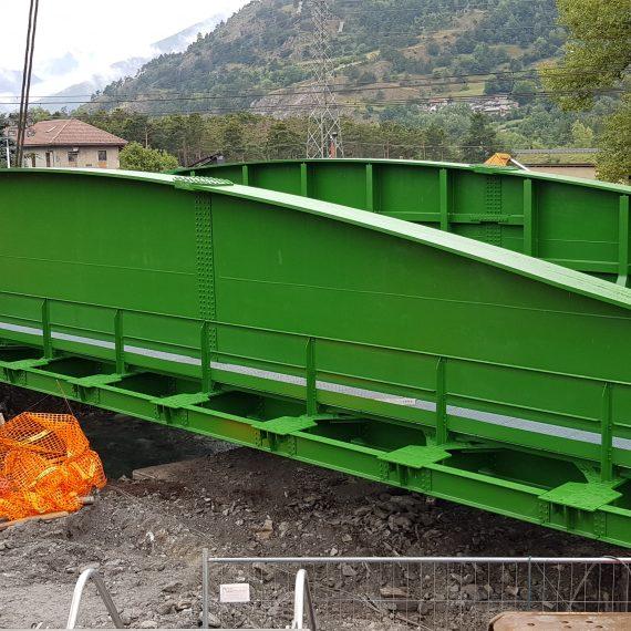 Ponte metallico ferroviario a via inferiore a Oulx - Torino